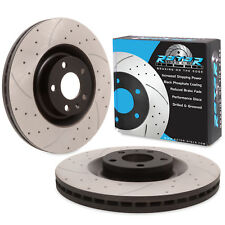 FRONT DRILLED GROOVED 345mm BRAKE DISCS FOR AUDI RS4 B7 SALOON AVANT & CABRIOLET
