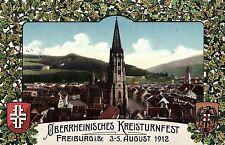 14774/ Foto AK, Freiburg i.Br., Oberrheinisches Kreisturnfest 3-5 August 1912
