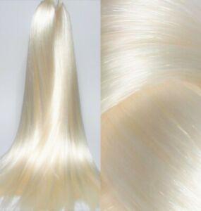 WHITE PEARL Saran Doll Hair for Custom Reroots