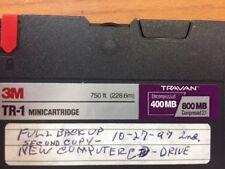 3M TR-1 Minicartridge 400mb/800mb Tape for Travan Tape Drive - 4 in lot
