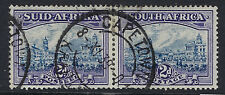 SOUTH  AFRICA:1938 2d blue and violet  SG58 used bi-lingual pair