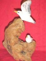 Vintage Handmade Driftwood Art with Seagulls Coastal Beach House NAUTICA  Decor
