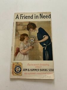 1924 A Friend In Need Arm & Hammer Baking Soda Advertising Booklet