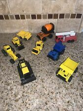 Lot Vintage Tonka Trucks Loader, Dozer, Dump, Fire, Cement 1990s # 0079