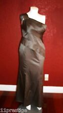 WHITE BY VERA WANG ONE SHOULDER MAXI DRESS GRAY  SIZE 12