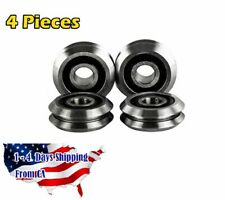 Rm2 2rs 38 Inch V Groove Roller Bearing Rubber Sealed Line Track 4pcs