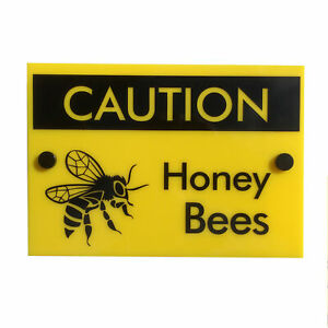 Beekeeping Warning Sign Caution Honey Bees, Hive Protection Equipment, Beekeeper