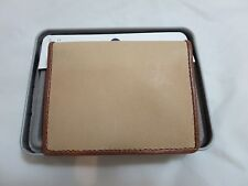Men's FOSSIL OLIVER Tan LEATHER Card Case Wallet ML3597231