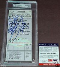 GLADYS KNIGHT Signed RARE Concert Ticket PSA/DNA Encapsulated + COA Autograph