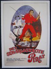 Filmplakatkarte cinema   Der scharlachrote Pirat   Robert Shaw , J.E.Jones