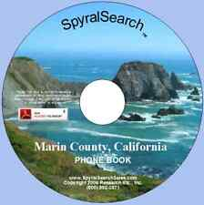 CA - Marin County 1962 Phone Book CD - Searchable