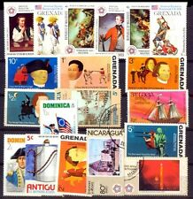 AMERICAN REVOLUTION BICENTENARY 20 Different World Wide Foreign Postage Stamps