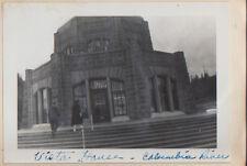 c1940s Lot of 2 Photos - Columbia River Wah-Kia-Nah Falls / Vista House