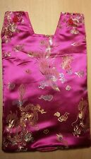 Catheter night bag cover . Oriental design, Chinese satin.