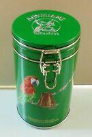 "VTG EMPTY TIN METAL BOX FOR GREEK TURKISH COFFEE LOUMIDIS PAPAGALOS ""PARROT"" !!"