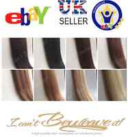 Hair Weave Extensions 100% Brazilian A Remy Human Full Head 100g DIY Clipin Weft