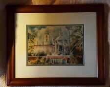 SANDY SIMMONS Print of Original WATERCOLOR PAINTING Hand Signed w/COA