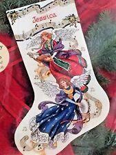 Dimensions Cross Stitch Stocking Kit ANGELIC HARMONY Charts & Charms &Floss Aida