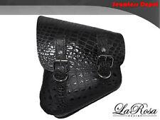 LaRosa Harley V Rod Night Rod Special Saddlebag - Black Alligator Emboss Leather