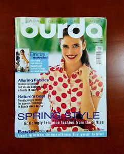 Burda Moden Style Magazine English Supplement with Patterns Unused April 2004