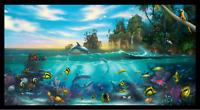 "Paradise Ocean Animals Elizabeth's Studio Cotton Fabric by the Panel 23.5"" X 42"""