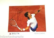 Tennis Superstar Novak Djokovic  signed 8x10 promo photo Ranked #1 in the World