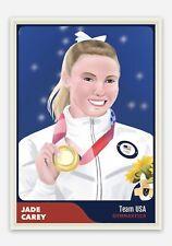 Jade Carey Custom United States USA Gymnastics Olympic Gold Medal ACEO Card