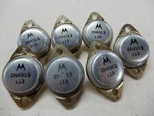Motorola 2N4913 Transistors Nos Qty 7 Bgx