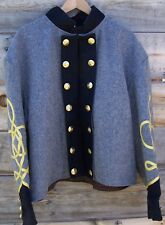 civil war confederate reenactor shell jacket with 3 row braids 48