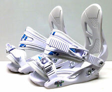 New Firefly C2 Cruising snowboard bindings junior white small size 13.5-6.5 blue