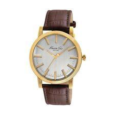 Montre couleur or homme avec bracelet en cuir (43,5 mm) - IDée cadeau homme bij