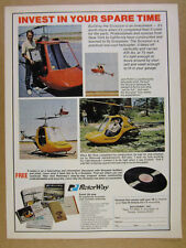 1974 RotorWay Scorpion Helicopter Rotorcraft kit builders photo vintage print Ad