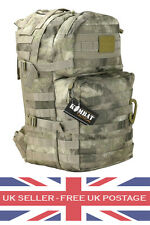 SMUDGE CAMO Molle Assault Pack 40L Military Army Patrol Rucksack Day Sack Pack
