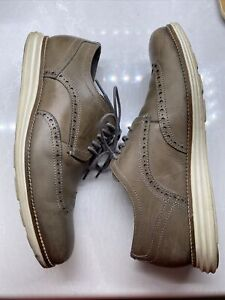 Cole Haan Grand OS Leather Derby Pewter-Ivory Wingtip Oxford C27778 Men's 10 M