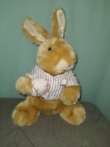 DAN DEE Baseball Bunny Rabbit Plush Toy Stuffed Animal Striped Jersey vintage