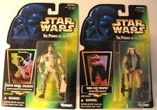 NOS '96 Star Wars POTF Coll#2:HOLOGRAMS Hoth Rebel Soldier & Rebel Fleet Trooper