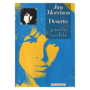 Jim Morrison LIBRO di Poesie Deserto Nuovo di Negozio 9788885859456