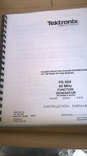 Tektronics Fg504 40 Mhz Function Generator Instruction Manual