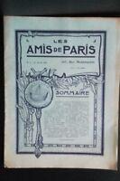 Revista Dibujada Las Amis De París N º 1 Mensual 1911 Gerente Claude Simond ABE
