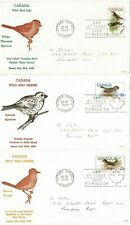 CANADA 1969 BIRDS WILD BIRD LIFE SET OF 3 FIRST DAY COVERS OTTAWA SPARROW THRUSH