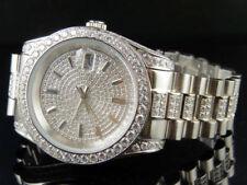 Relojes de pulsera de oro blanco de oro blanco para hombre