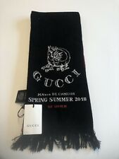 """New! With tags Men's  GUCCI Wool Scarf 100%Wool """"Be Loved"""" 2018  Very Rare"""