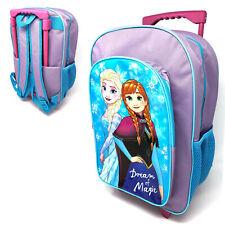 Disney Frozen Kids Luggage Trolley Backpack Rucksack Bag Suitcase On Wheels