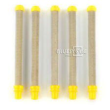 5 x Wagner Style Airless Spray Gun Pencil Filter 100 Mesh Yellow