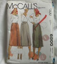 McCalls 6800 Ladies Side Front Pleats Wrap Skirt Size 6 Sewing Pattern