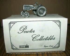 IH Farmall Cub Tractor Pewter Toy 1:43 Spec Cast Collectible ZJD29 Lt Ed 1990s