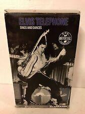 Telemania Elvis Presley Telephone Sings Dances Original Box & Paper-Work #2799