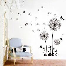 Dandelion Butterfly Vinyl Nursery Art Wall Sticker Removable Decals Wall Decor