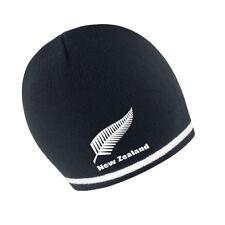 MENS/ WOMENS NEW ZEALAND BEANIE HAT - BLACK/WHITE
