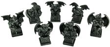 More details for mythical 4 inch black gargoyle statue set x7 - seven deadly sins gothic new